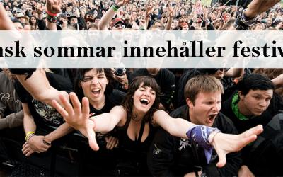 Svensk sommar innehåller festivaler